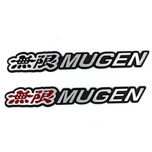 Autocollant de coffre de voiture en aluminium 3D   Emblème Mugen Logo chromé, Badge arrière, style de voiture pour Mugen Honda Civic Accord CRV