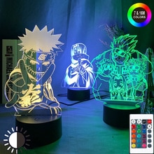 Anime Naruto Uzumaki Led Night Light Team 7 Sasuke Kakashi Hatake Kids Bedroom Nightlight Itachi Uchiha 3d Lamp Child Xmas Gift