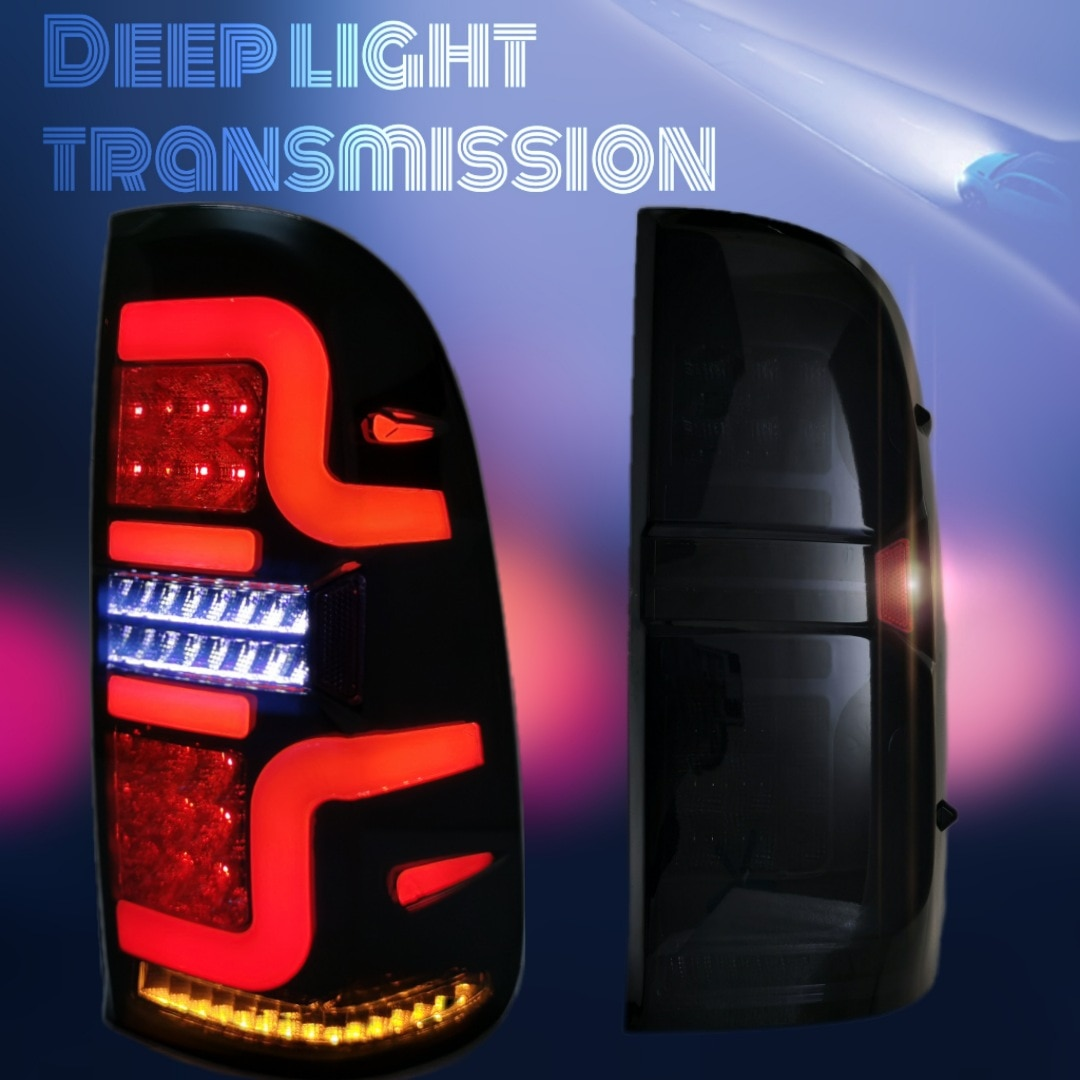 Luz trasera LED para correr... accesorio de color negro compatible con HILUX...