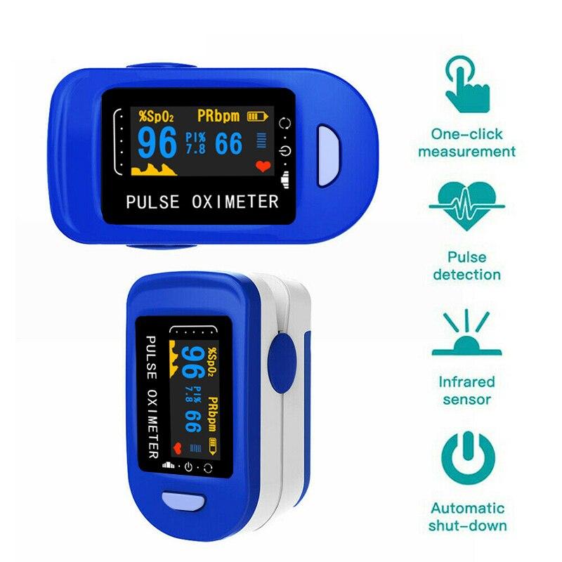 Medical Health Household Digital Fingertip Pulse Oximeter Blood Oxygen Saturation Meter Finger SPO2 PR Monitor