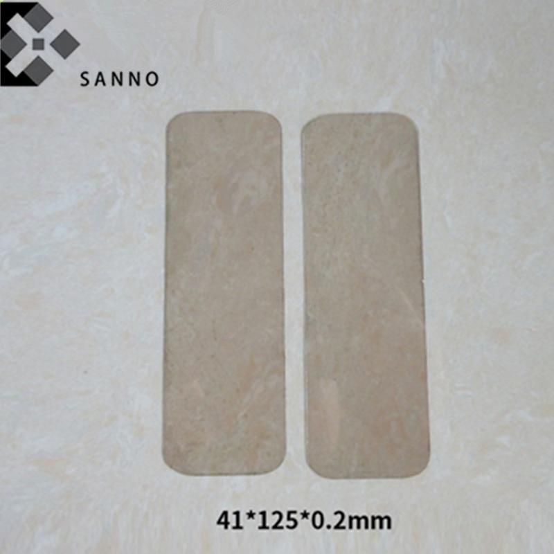 Transparente mica natural hoja x 41x125x0,05mm-125x41x0,5mm mica escamas aislamiento condensador de mica laminado placa
