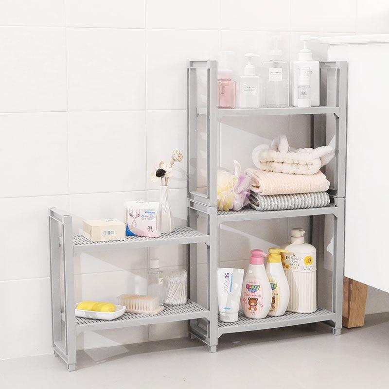 New Multifunction 2/3/ layers Bathroom Shower Storage Rack Kitchen Spices Bottle Organizer Stand Home Shoe Shelf Book Organizer