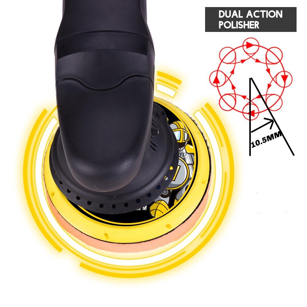 700W Car Polishing Machine DA 6inch 21mm Orbit Dual Action Auto Polisher Variable Speed Sander Buffing Waxing Machine