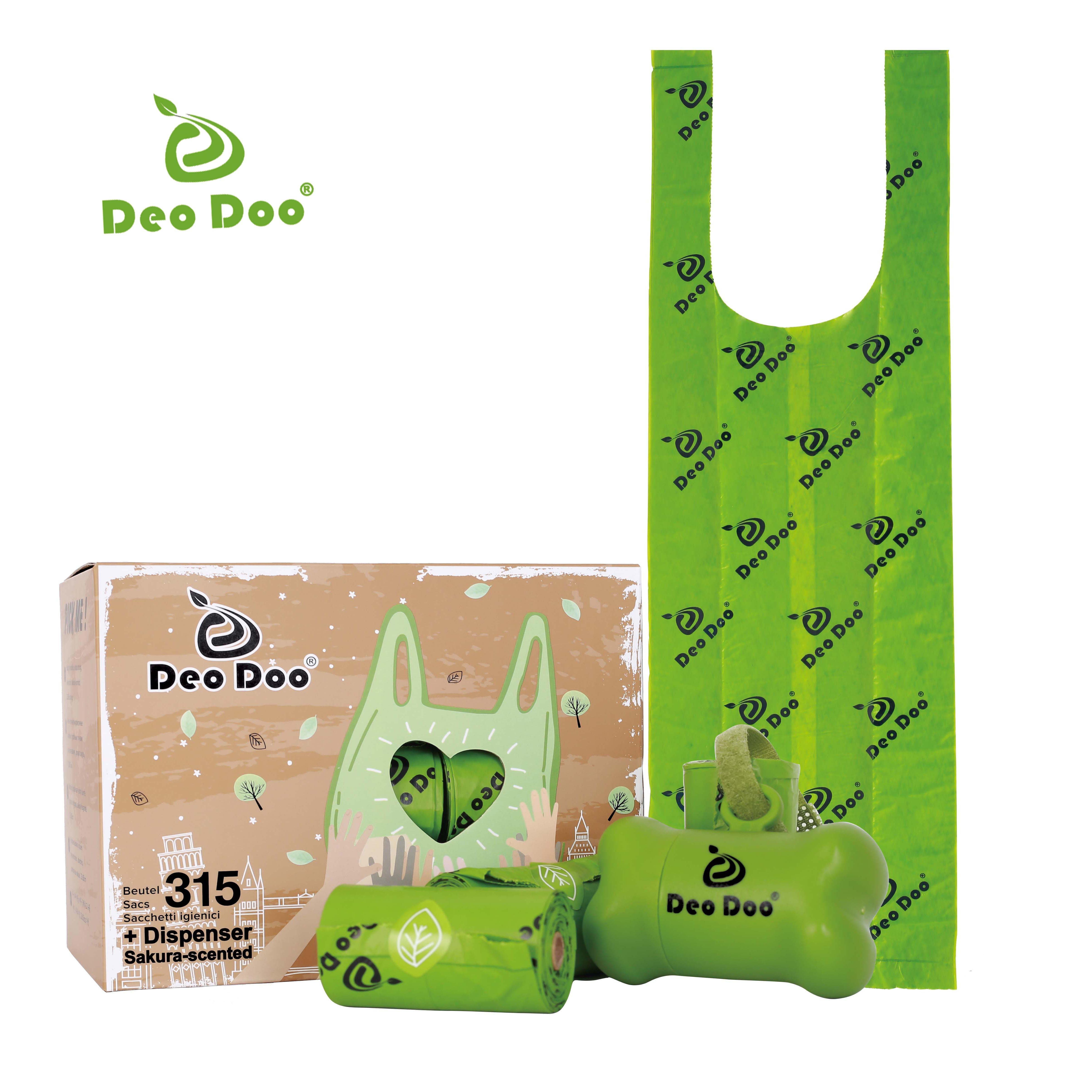 Bolsa para popó de perro con mango, 21 rollos, 315 bolsas biodegradables,...