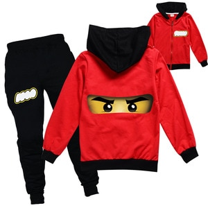 2-16Y Harry Style Kids Legoes Jacket and Pants 2pcs Set Boys Ninjagoed Cotton Hooded Pullover Hoodies Trouser Suit Girls Outfits