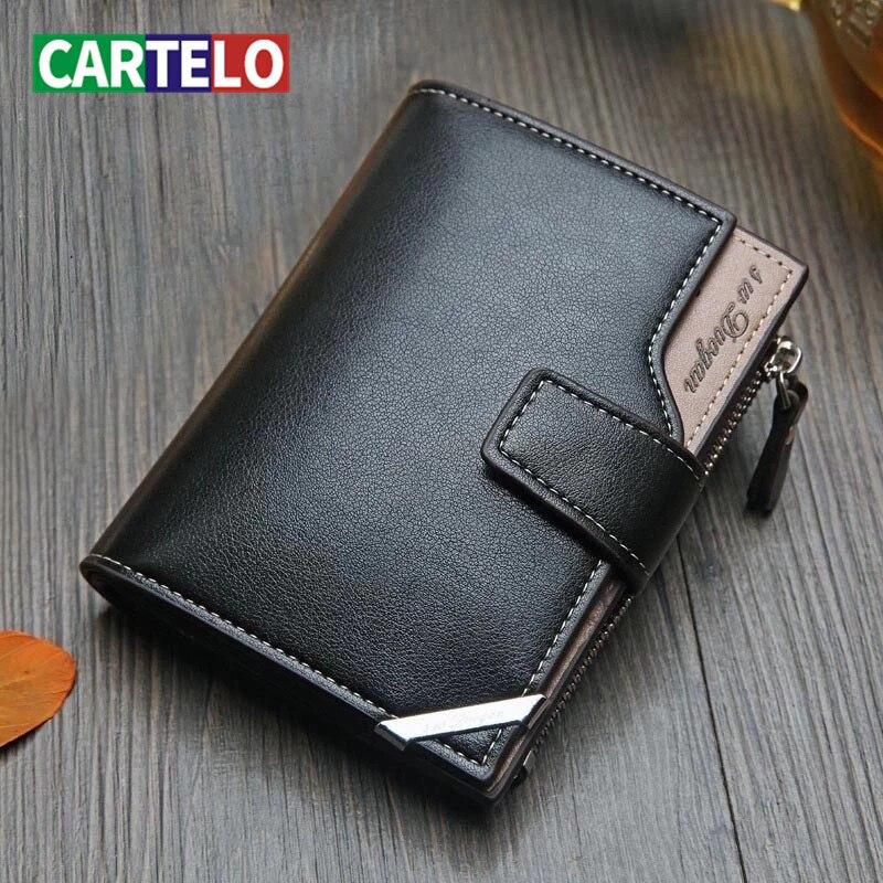 Cartelo carteira masculina design de designer multi-função multi-cartão carteira de grande capacidade masculino estilo britânico padrão carteira