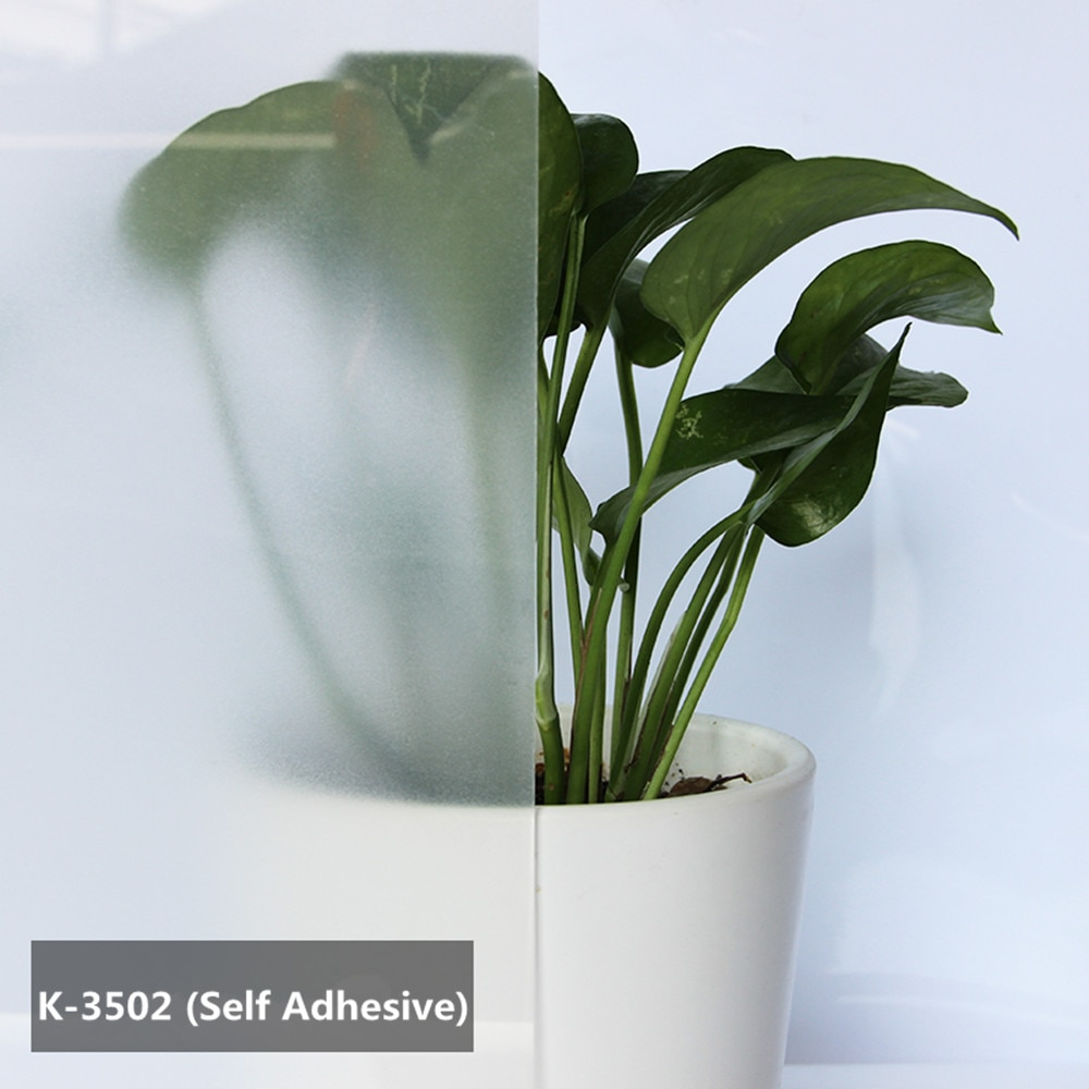SUNICE película de ventana mate blanca con pegamento pegatina de vidrio de privacidad tinte adhesivo ancho 48 pulgadas Longitud 32,8 pies Oficina