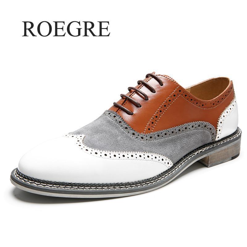 Novas Cores Misturadas Sapatas Dos Homens Sapatos Formal Vestido de Couro de Vaca Esculpida Brogue Britânico Do Vintage Business Casual Sapatos de Banquete de Casamento