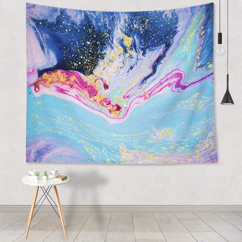 Psychedelic Geometric Tapestry Wall Hanging Decor Living Room Dorm Background Wall Hippie Tapestry Tapiz 73*95cm psychedelic brick dorm decor wall hanging tapestry