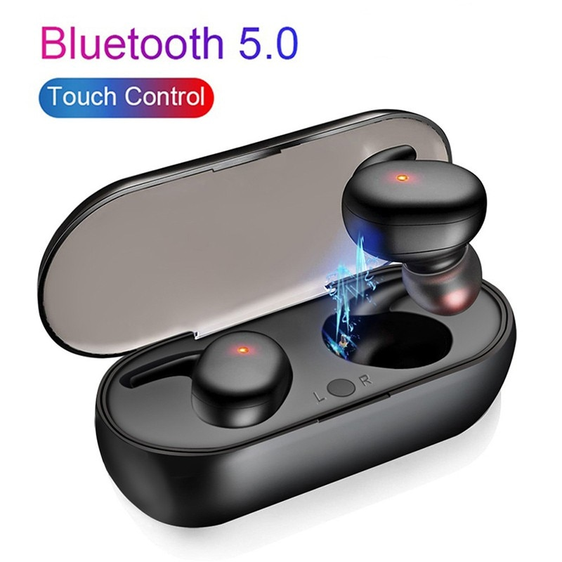 2021 Wireless Bluetooth 5.0 Headset TWS 4D Stereo Sports Waterproof Earbuds Touch Control Earphone HiFi IPX5 Sports/Game/Music