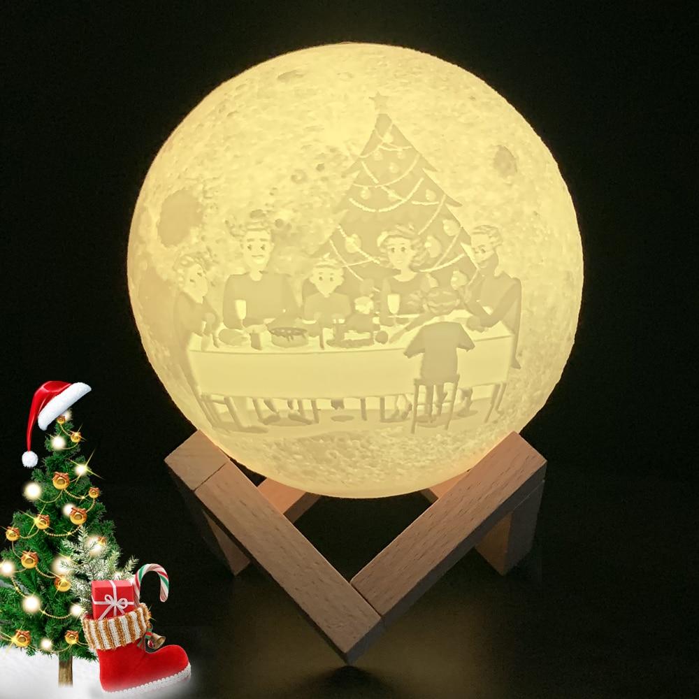 Christmas Gift Customized Moon Lamp Moon Photo Text Pattern 2/16 Colors for Ramadan Eid Mubarak Wedd