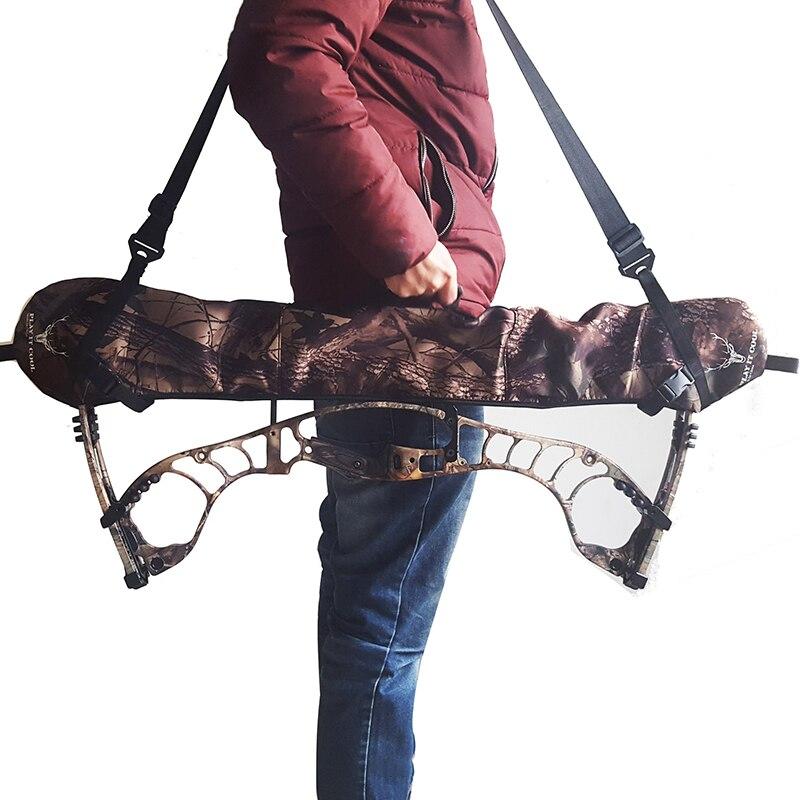 Al aire libre caza arco compuesto Honda con soporte de muñeca de látex banda correa para hombro extraíble arco funda tiro con arco cinturón