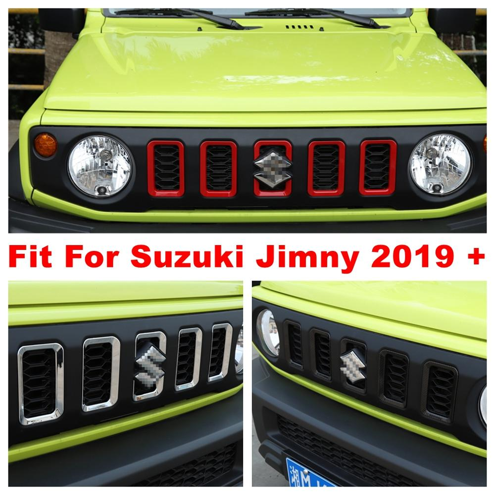 Front Insert Racing Grille Grill Frame Decoration Ring Cover Trim Fit For Suzuki Jimny 2019 2020 ABS Exterior Refit Kit