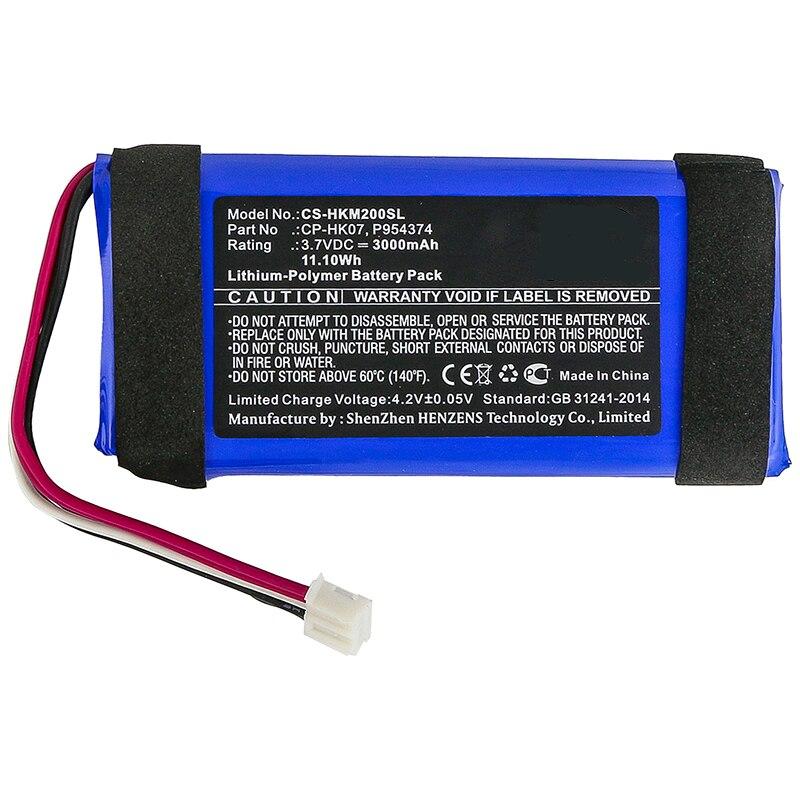 CP-HK07, P954374 batería de altavoz CS-HKM200SL para Harman/Kardon Onyx Mini baterías de precio de fábrica AKKU 3,7 V 3000mAh