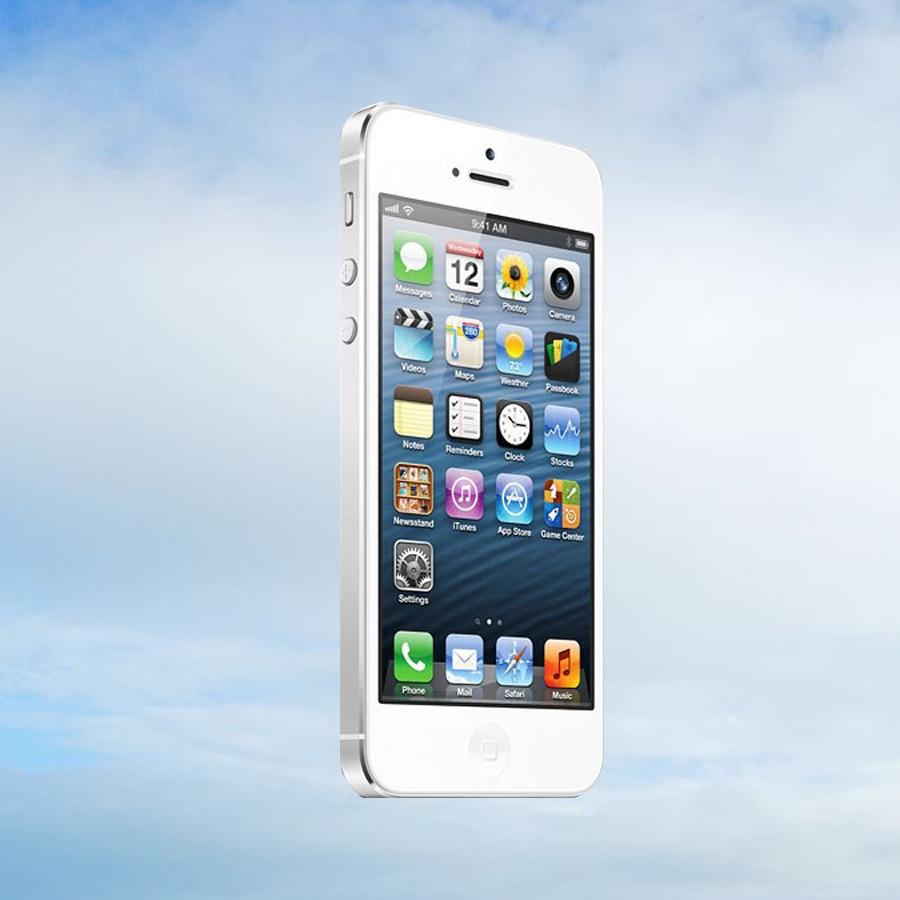 "Original Apple iPhone 5 Unlocked Mobile Phone iOS Dual-core 4.0"" 8MP Camera WIFI GPS Used Phone free gift"
