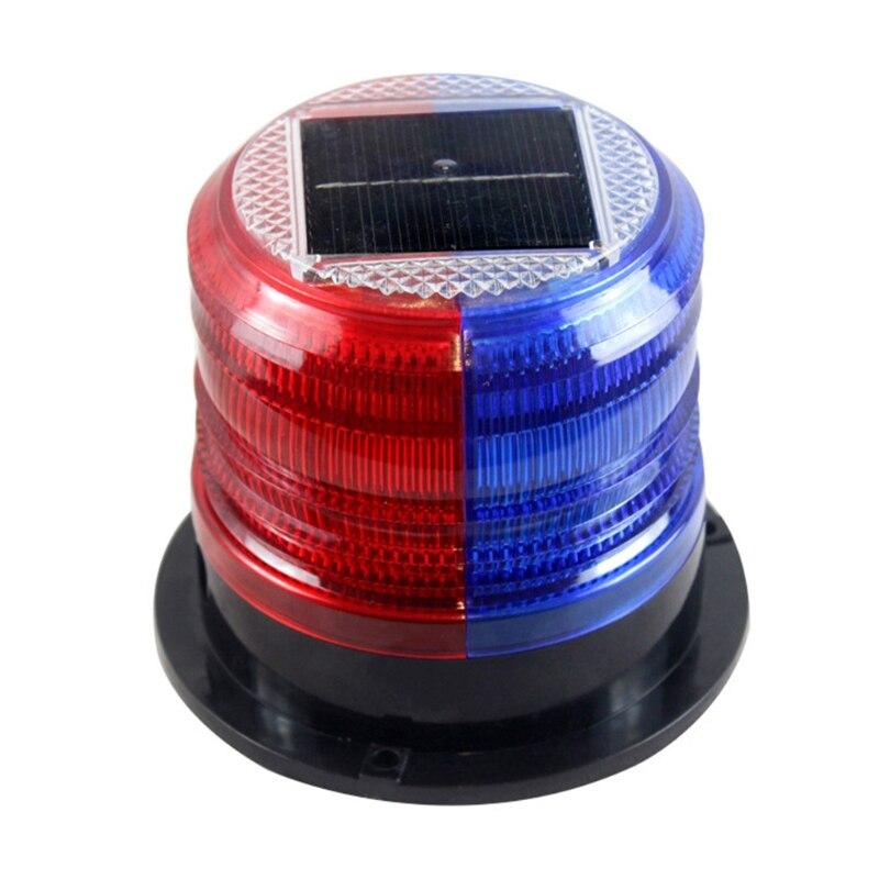 Solar Flashing Warning Light Strobe Emergency Headlight LED Strobe Warning Lamp K92F