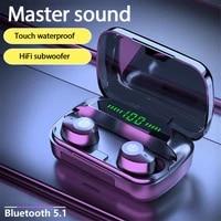 jietmt m5 tws touch wireless bluetooth 5 1 earphone wireless earbuds ipx6 waterproof sweatproof sports 9d stereo headphones new