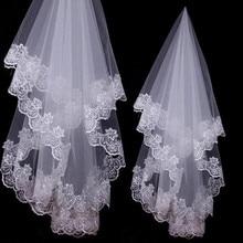 Wedding Accessories Lace Edge Bridal Veils One Layer Bride Veil 2020