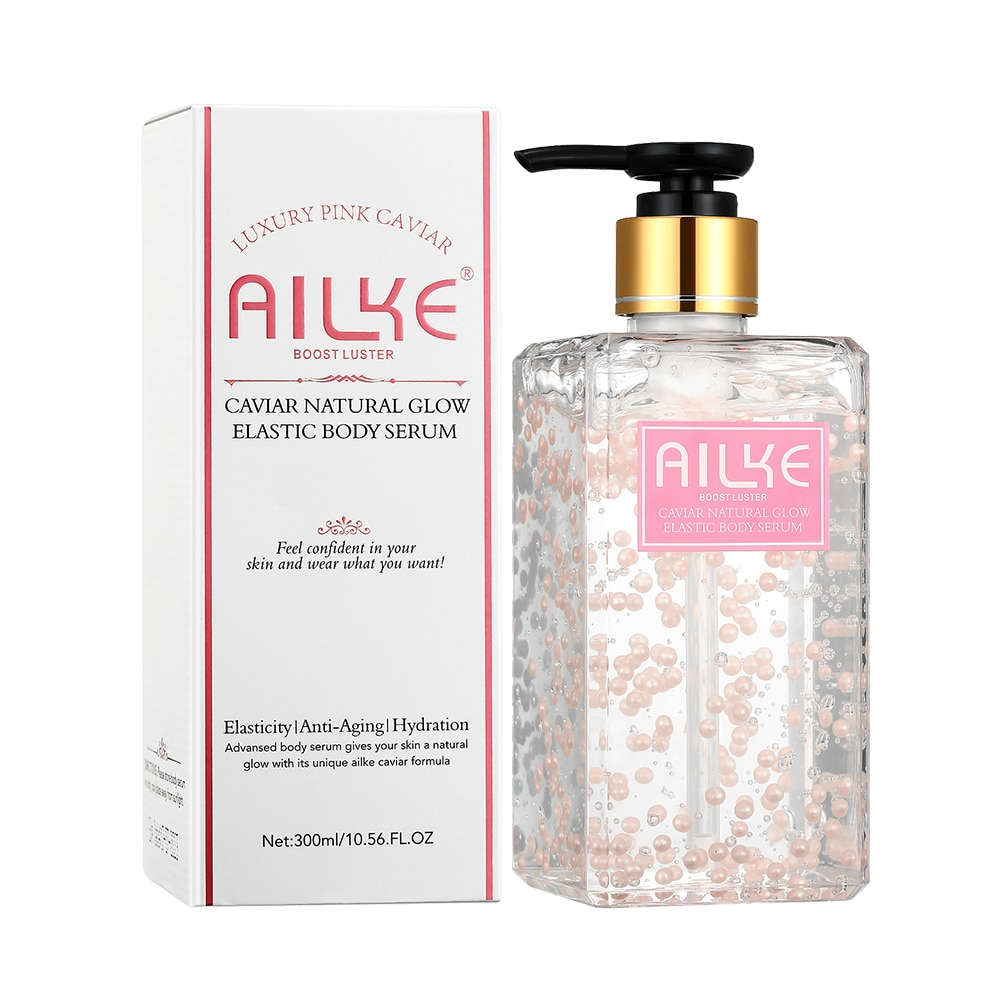 AILKE Body Essence water Pure Natural Best Anti-aging Elasticity Hydration Pink Caviar Whitening Anti-Aging female skin care
