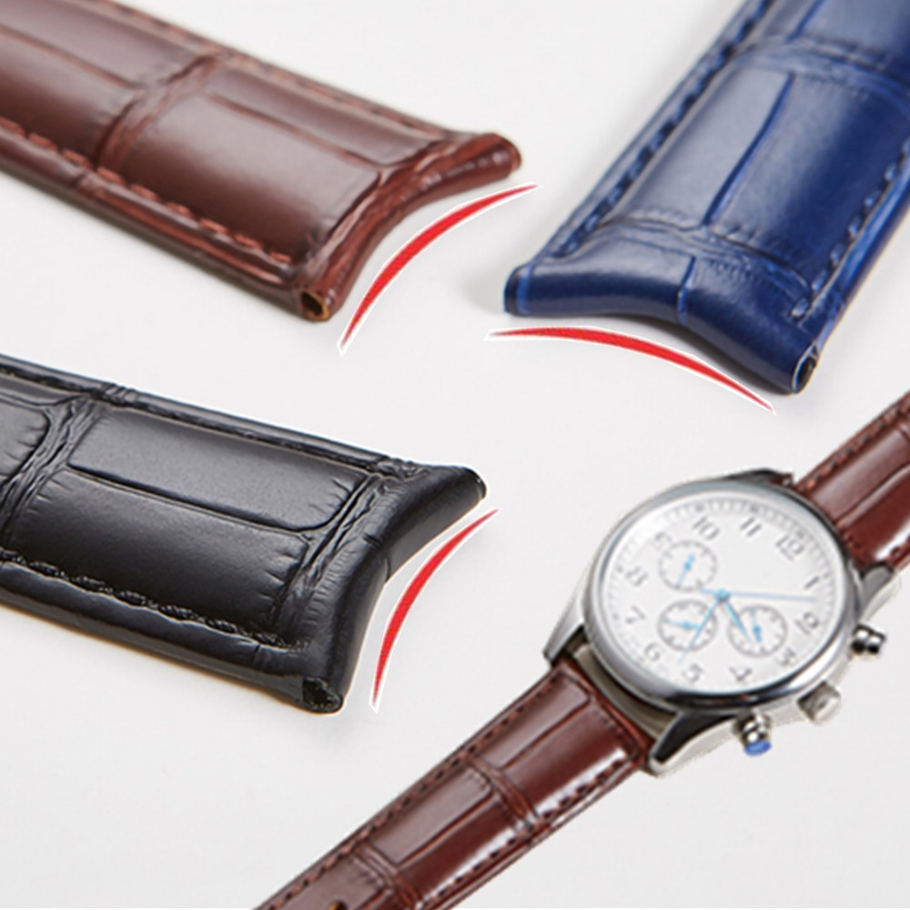 leather watchband black brown watch accessories for tissot 1853 watchbands t41 t17 t065 t063 leather watchband for tissot1920mm Curved End Arc interface Genuine Leather Watch Strap 19mm 20mm 21mm 22mm Watch Band for Tissot Seiko Watchband Accessories