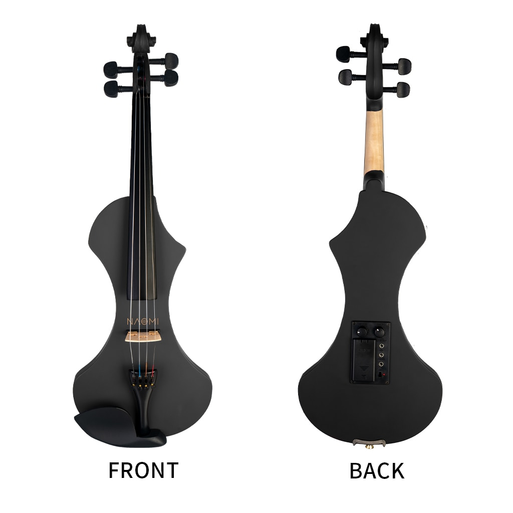 4/4 Electric Violin Solid wood Silent Active Pickup With Case Bow Rosin enlarge