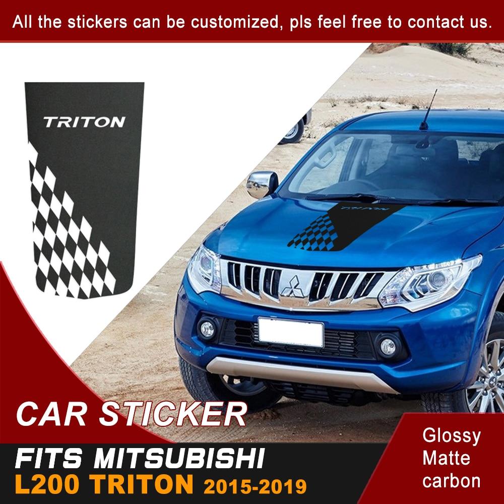 Coche Exterior Hood Car Cool Sticker Racing bandera capó vinilo gráfico para Mitsubishi L200 Triton