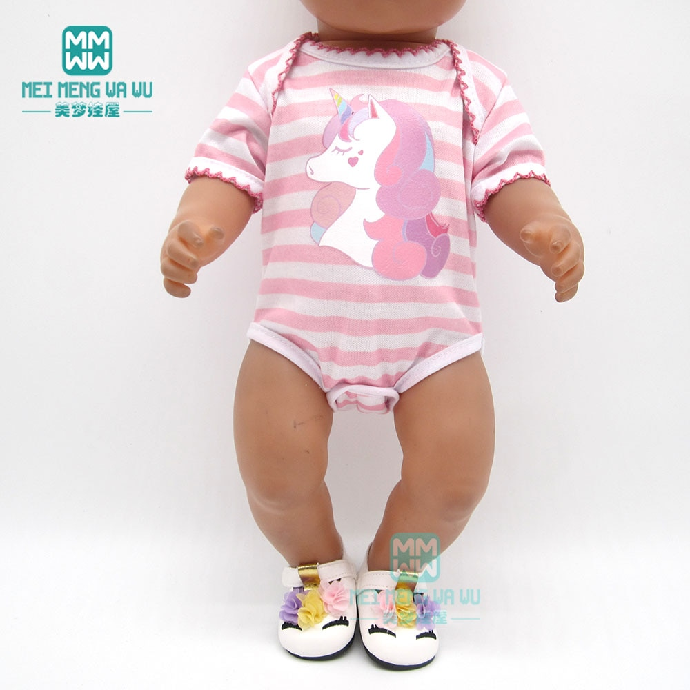 Кукла Одежда для новорожденных подходит 18 дюймов 40-43 см Единорог Детский комбинезон кукла аксессуары для детского праздника подарок на день рождения