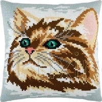 latch hook kits diy 3d segment embroidery pillow embroidered handcraft pillow case animal cat package coarse wool cross stitch