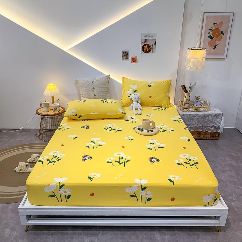 جديد 3 قطعة/مجموعة الكرتون ورقة السرير المطبوعة ملاءات السرير مع وسادة شرشف مرونة أغطية السرير غطاء فراش الملكة الملك حجم