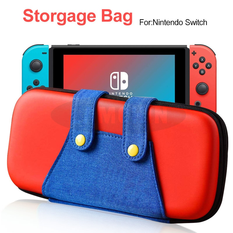Consola de juegos multifuncional caja de almacenamiento de Mario caja de juegos funda de transporte consola de juegos bolsa para Nintendo Switch Storgage bolsa