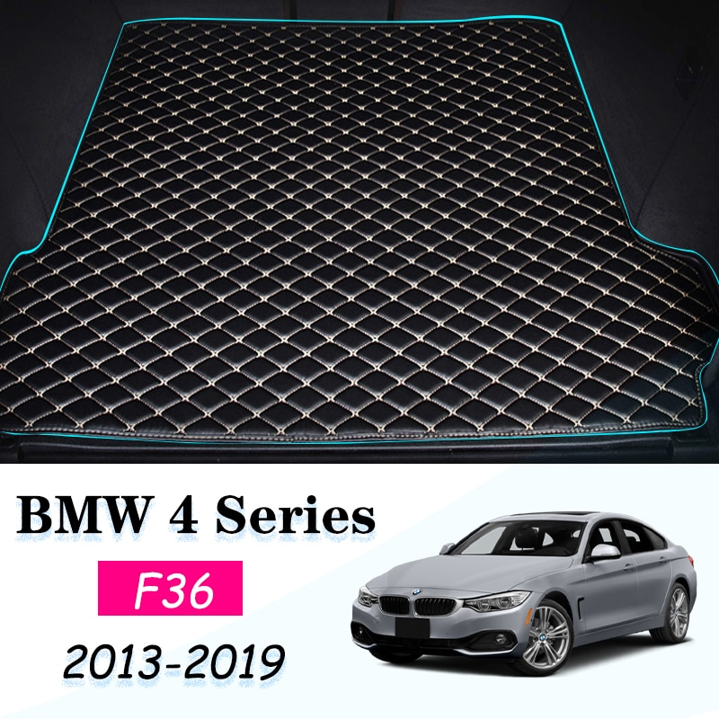 lsrtw2017 fiber leather car trunk mat for bmw 5 series g30 2018 2019 2020 520 528 530 535 540 Leather Car Trunk Mat BMW F36 Carpet Tail Cargo Liner For BMW 4 Series Gran Coupe 2013-2019 Trunk Boot Mat 4Srieis Liner Pad