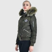 Chaqueta de invierno de mujer de algodón acolchado de talla grande Parka chaquetas de mujer abrigo corto de piel grande cuello Parkas KJ763 s