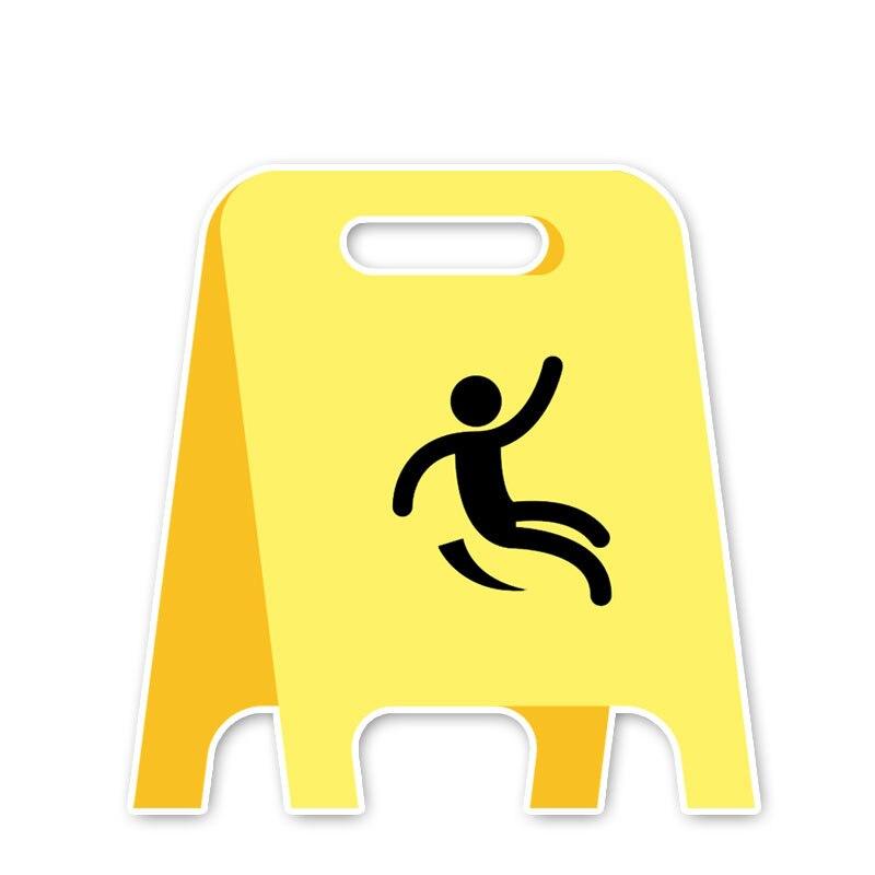 ГоряПредупреждение ждающий знак внимание! Влажный пол, автомобильная наклейка KK, виниловый автомобильный Стайлинг, аксессуары для ноутбук...