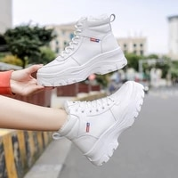new women girs snow boots boots korean british style platform woman sneakers casual high top womens boots botas mujer 2020