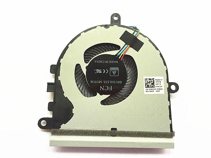 Nouveau ventilateur CPU pour DEL Inspiron 5570 15-5575 07MCD0 ventilateur de refroidissement pour ordinateur portable