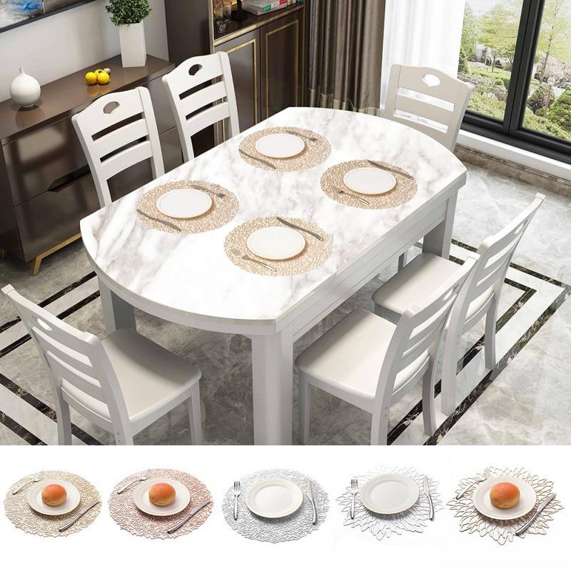 Коврики теплоизоляционные Нескользящие ПВХ выдолбленный стол размещение для кухни обеденный стол