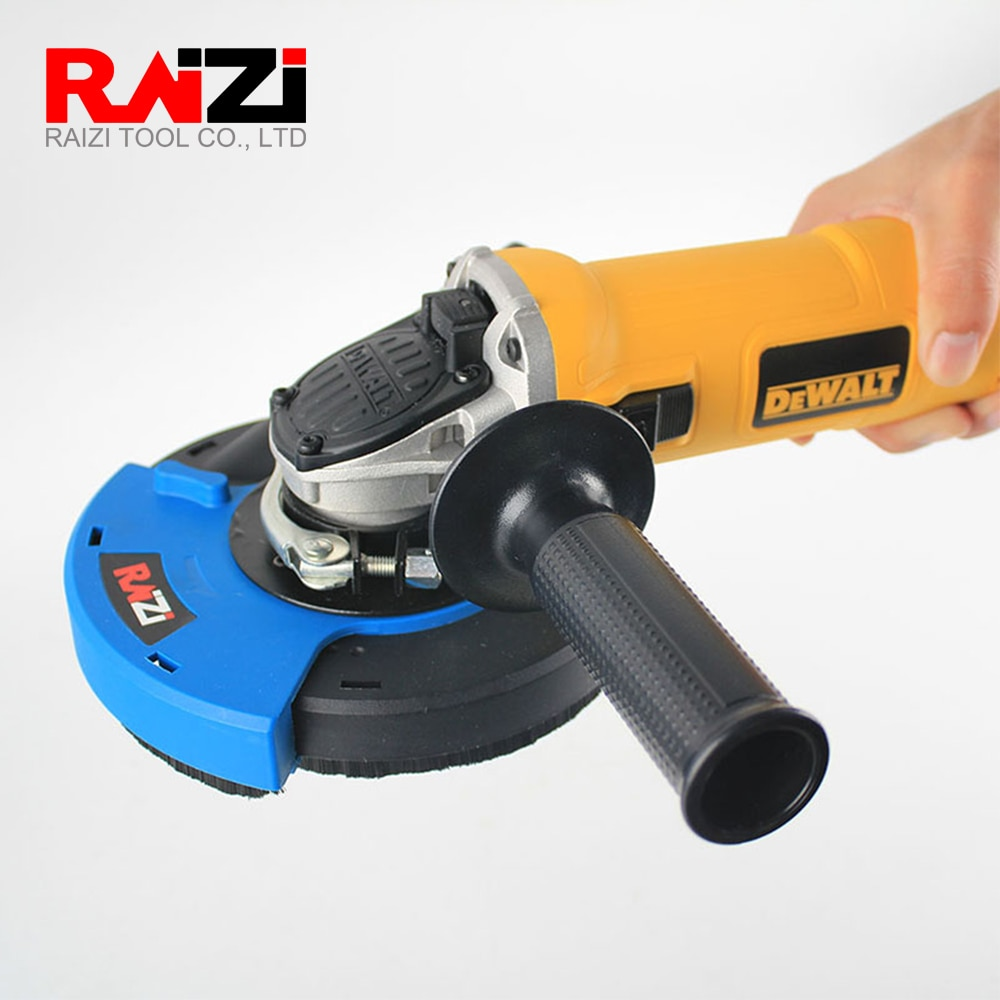 5 inch/125 mm dust shroud kit cover tool with diamond cup wheel for angle grinder concrete grinding enlarge