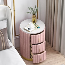 Comodino moderno di lusso leggero nordico Ins Style comodino camera da letto laterale multifunzionale armadio di stoccaggio camera da letto