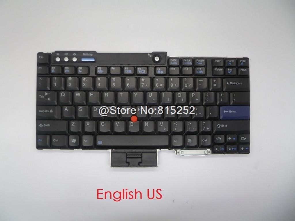 Teclado para Lenovo para Thinkpad T60 T60P T61 T61P R60 R61 Z60 Z61 T500 R400 R500 T400 W700 inglés nos japonés JP JA 42T3241