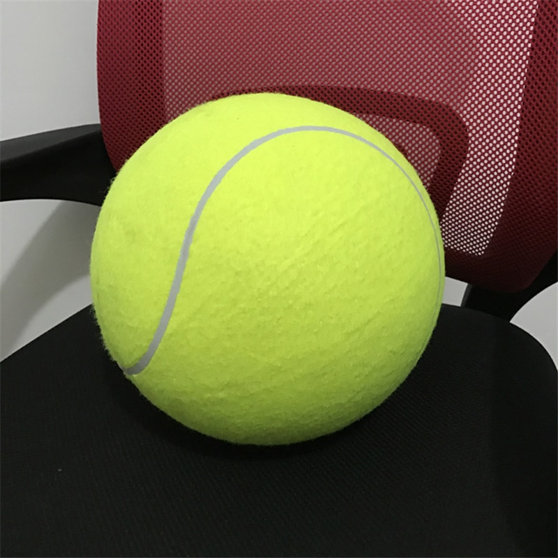 24cm pelota de tenis gigante Pet juguete perro de juguete pelota de tenis perro masticar juguete firma Mega Jumbo pelota de juguete para niños, suministros para mascotas globo de cumpleaños