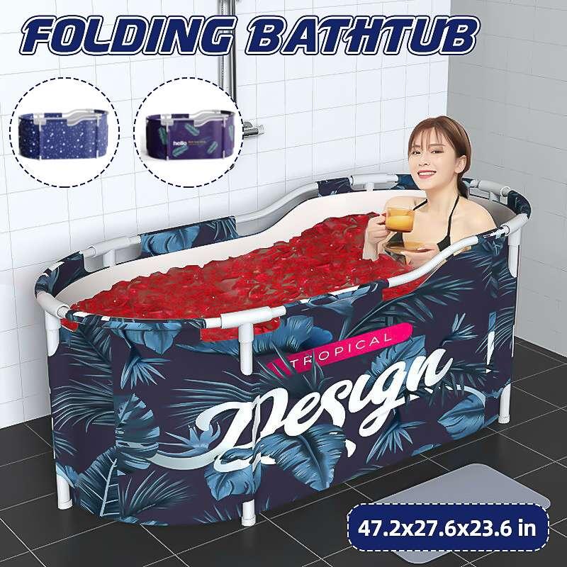 Portable Folding Bathtub for Adult Baby Swimming Pool Large Plastic Bathtub Insulation Bath Barrel SPA Bathing Bucket Bath Tub