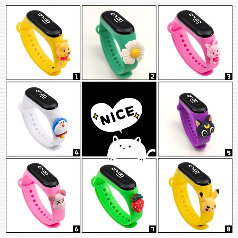 New Bracelet Electronic Kids Watches Cartoon LED Digital Display Sports Clock Children Watch For Gir