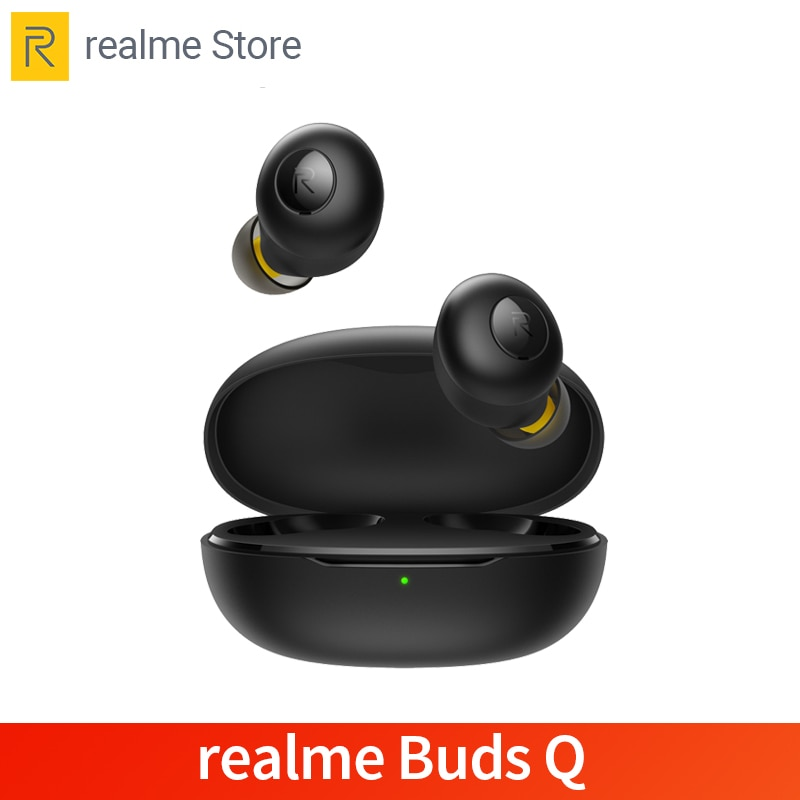 Realme Buds Q-auriculares TWS, inalámbricos por Bluetooth 5,0, con cargador de batería de 400mA para realme X2 Pro X50 Pro 6 6i