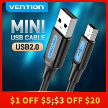 Vention Mini USB Cable Mini USB 2.0 to USB Fast Data Charger Cable for MP3 MP4 Player Car GPS Digita