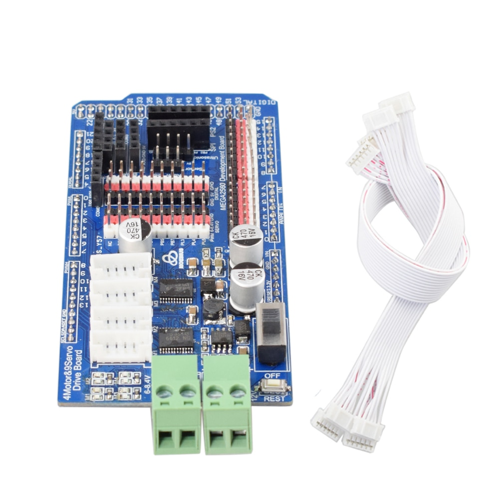Arduino Mega2560 Motor Driver Board TB6612 for 6-12V DC Encoder Motor PID Closed Loop Mecanum Wheel
