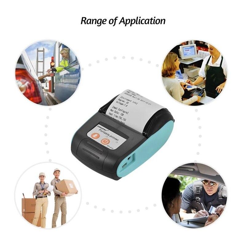 Impresora térmica portátil GOOJPRT PT-210 de 58mm, impresora de recibos portátil para tiendas minoristas, restaurantes, fábricas, logística