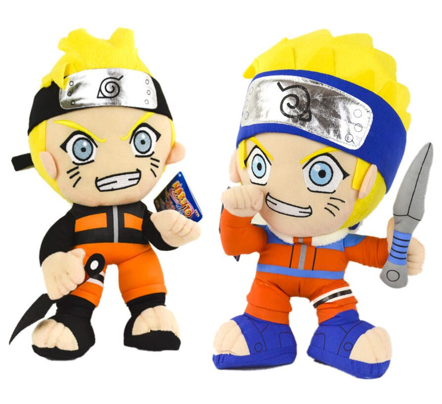 [Divertido] 2 unids/lote 30cm Anime versión de combate muñeca de Naruto peluche shuriken modelo de Naruto decoración del hogar regalo para niños