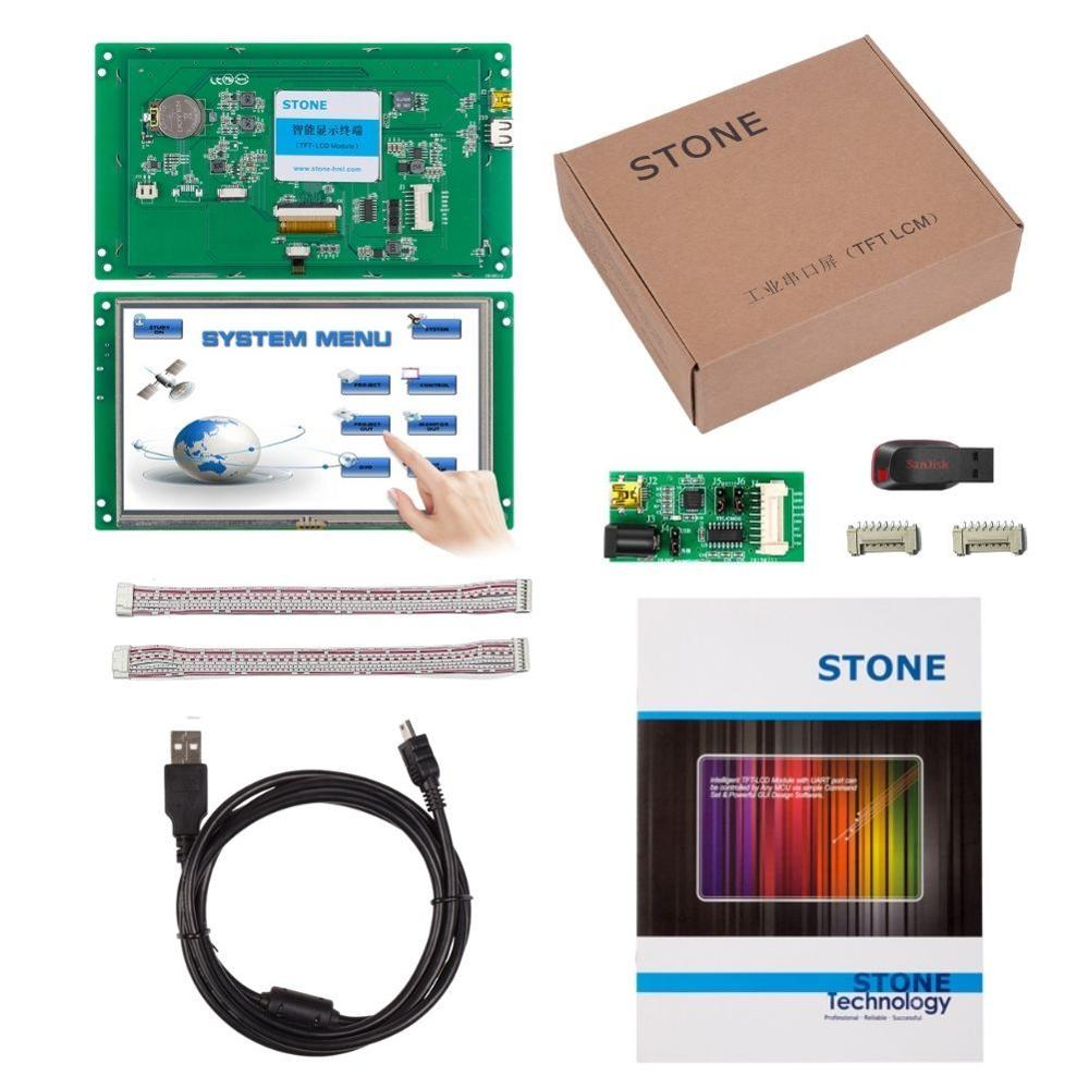 7 inch HMI  LCD Monitor with Touch Screen + Control Board Serial Port Program for Industrial