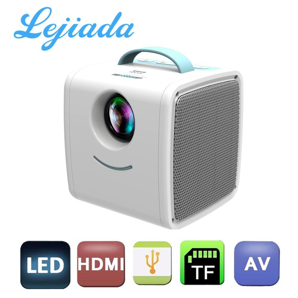 LEJIADA Q2 LED Portable Projector Mini Size 600 lumen Support 1080p HD Playback HDMI USB Movie Projector Home Multimedia Player