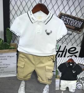 Children Fashion Short Sleeve T-Shirt + Shorts 2pcs/Set Summer Baby Boys Sets Infantis Kids Outfits 2-6Year